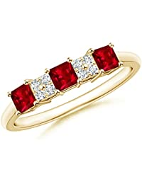 Angara Emerald-Cut Tanzanite Statement Ring in Platinum