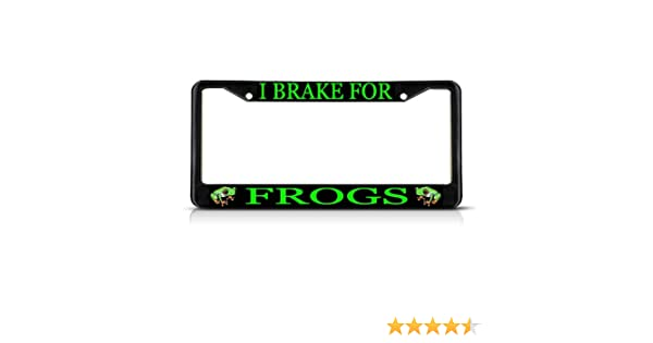 Frogs Pattern Auto Car License Plate Frame Tag Holder 4 Hole