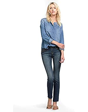 Women's Mid Rise Easy Fit Sweet N Straight Jean