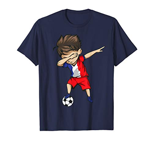 Dabbing Soccer Boy France Jersey Shirt - French Football