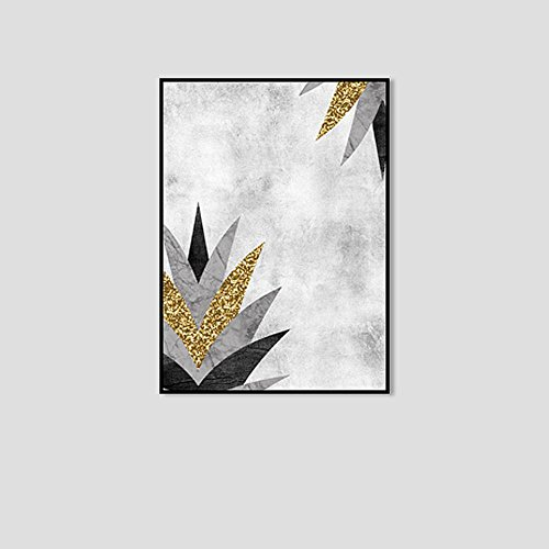 (DIDIDD Simple Creative Graphic Abstract Decorative Painting Boxed,C,50 70CM)