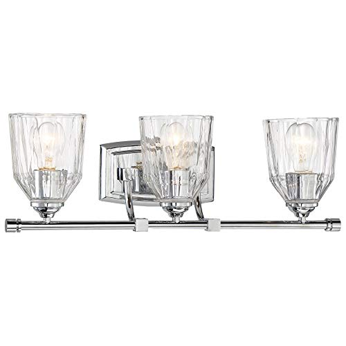 Minka Lavery Wall Light Fixtures 3383-77 D'Or Wall Bath Vanity Lighting, 3-Light 300 Watts, Chrome