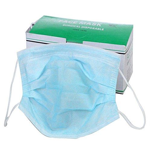 3 strato di tessuto usa e getta per chirurgia filtro antipolvere per auricolari a maschera, confezione da 50 Elandy