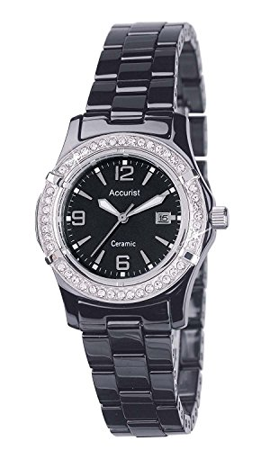 Accurist LB1650B Ladies Core Ceramic Black Watch