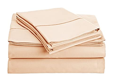 Chateau Home Collection 800-Thread-Count Egyptian Cotton Deep Pocket Sateen Weave Sheet Set (KING, Sepia - Solid Sateen Sheets