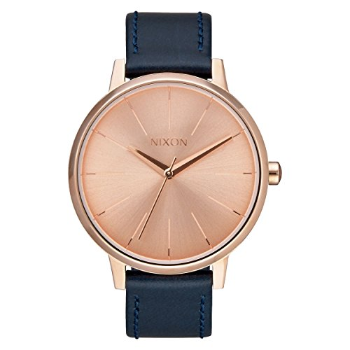 Nixon Women's Kensington A1082160 Rose Gold Leather Quartz (Nixon Kensington Rose Gold Watch)