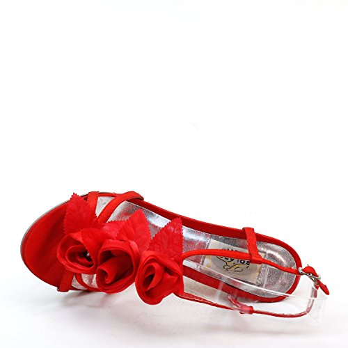 Nuovo Brieten Womens Fiore Strappy Tacco Alto Sandali Vestito A Tacco Alto