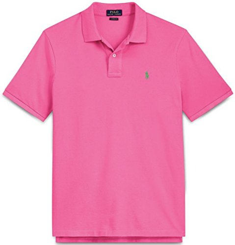 - Ralph Lauren Men's Classic Fit Mesh Pony Logo Polo Shirt (M, BajaPink)
