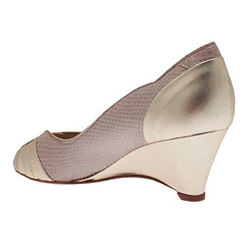 con Chic Sabrina tacón mujer dorado Zapatos 8nEnx4