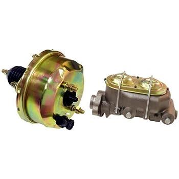 "Corvette Style Master Cylinder w// Bleeders A-Body 9/"" Zinc Power Brake Booster"