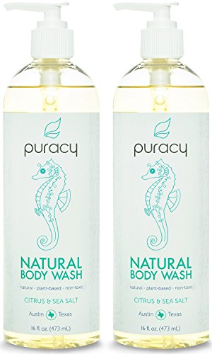 Puracy Natural Body Wash, Sulfate-Free Shower Gel and - Men Sensitive Skin Body Wash