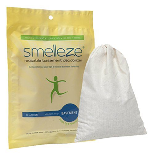 (SMELLEZE Reusable Basement Odor Removal Deodorizer Pouch: Rids Musty Smell Without Fragrance in 150 Sq. Ft.)