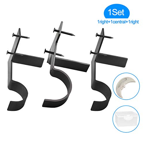- Yoaokiy Single Curtain Rod Brackets, 1Set(3Pcs), No Drill Adjustable Curtain Rod Holders, Tap Right Into Window Frame for Bedroom Home Decoration(Black)