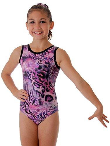 Print Leotards Animal (Snowflake Designs Amethyst Girls Gymnastics or Dance Purple Animal Print Leotard (Child Large))