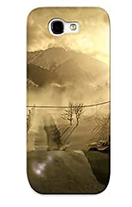 DujhEUM481Lvkia New Premium Flip Case Cover Outlast Skin Case For Galaxy Note 2 As Christmas's Gift