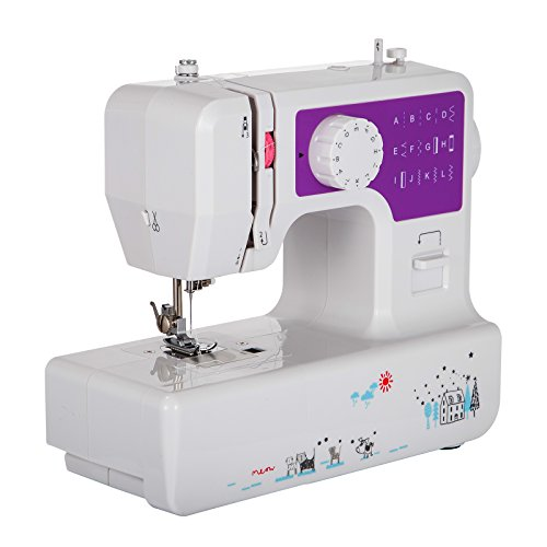 Mophorn Sewing Machine 12-Stitch Multi-Function Sewing Machines 2-Speed Control Portable Sewing Machine Double Thread with Cutter Light Crafting Mini Sewing Machine(12-Stitches 1602)