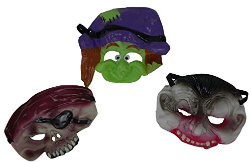 Half-Face Halloween Party Mask (Set of 3) Perfect for Halloween, Masquerade & Animal Costume Theme Parties