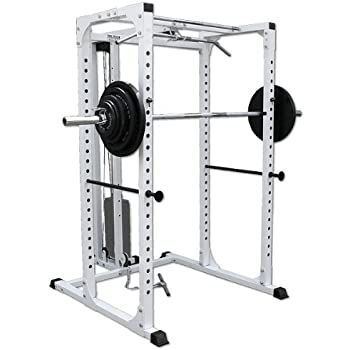 Amazon Com Deltech Fitness Squat Rack With Lat Attachment