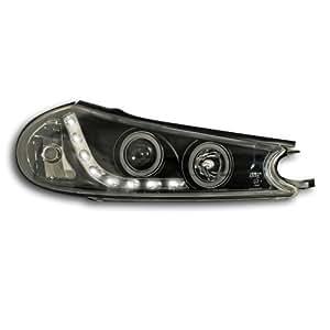 JOM 82602 Faros, diseño luces diurnas , Ford Mondeo Bj. 96-00, xenón óptica, incl. luces intermitentes, con LWR motor, vidrio claro / negro
