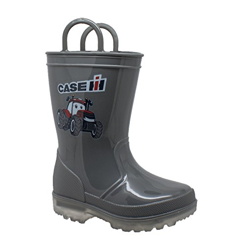 AdTec Baby CI-5010 Rain Boot, Grey, 10 Medium US Toddler