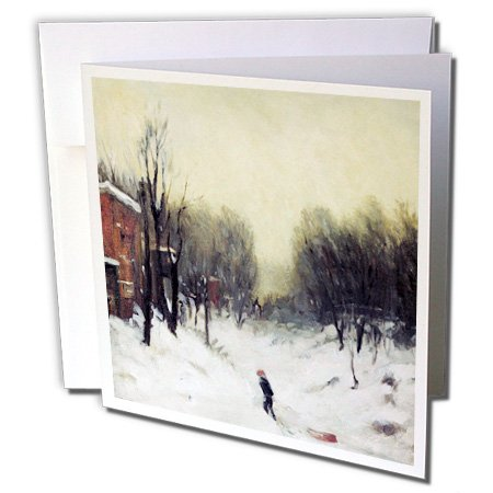 Winter Landscape Central Park, 1902 by Robert Henri - Greeting Cards, 6 x 6 inches, set of 6 (gc_173755_1)