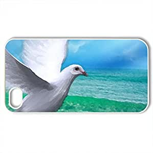 Peace - Case Cover for iPhone 4 and 4s (Beaches Series, Watercolor style, White)