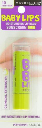 Maybelline New York Baby Lips Moisturizing Lip Balm, Peppermint, 0.15 Ounce