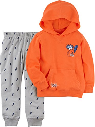 (Carter's Baby Boys' French Terry Hoodie and Lightening Bolt Joggers Set 3 Months)