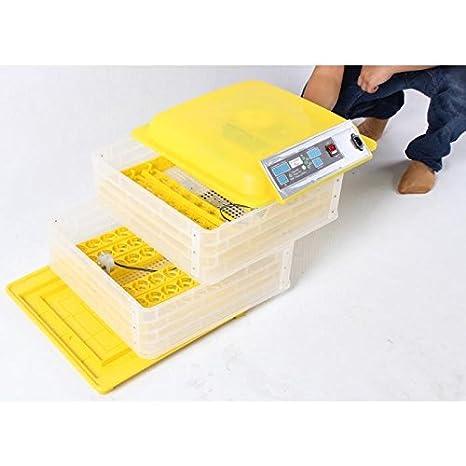 POILS ET PLUMES BASSE COUR Kit couveuse digitale automatique 96 oeufs + accessoires 55x54x35cm Jaune