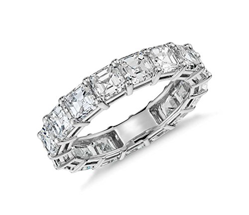 NYC Sterling Womens 5mm Asscher Cut Luxury Eternity Ring (5)