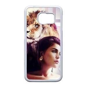 Ellie Goulding C9V6KL N0M40 funda Samsung Galaxy S6 funda caja del teléfono celular cubren WZ0MVU8HQ blanco