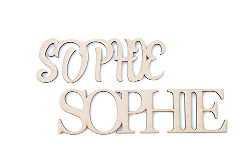 Diamond Laser Design Ring (Custom and Personalized Wooden Name Room Décor (6