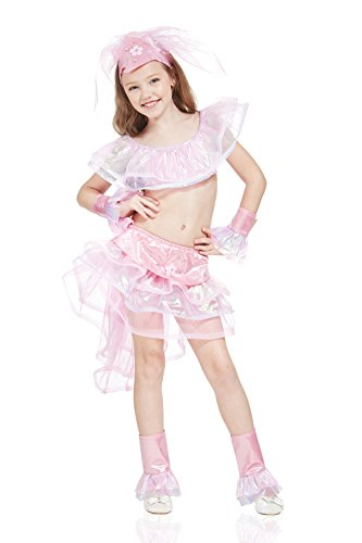 Kids Girls Samba Dancer Halloween Costume Rio Carnival Dress Up & Role Play (6-8 years, pink, (Professional Burlesque Costumes)