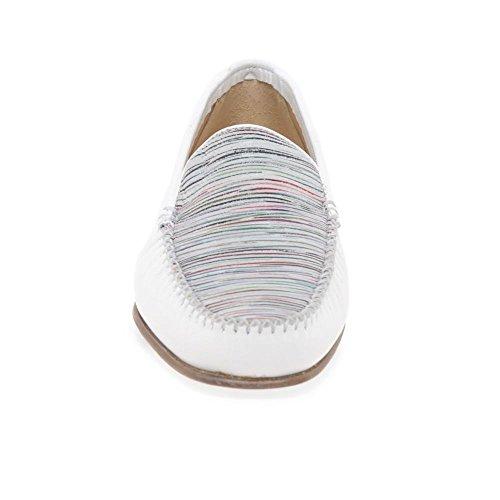 Righe White Womens stripe Casual Mocassini Pascucci Print d8AwRqdg