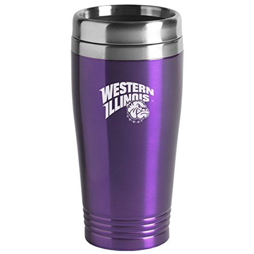 Western Illinois University - 16-ounce Travel Mug Tumbler - Purple