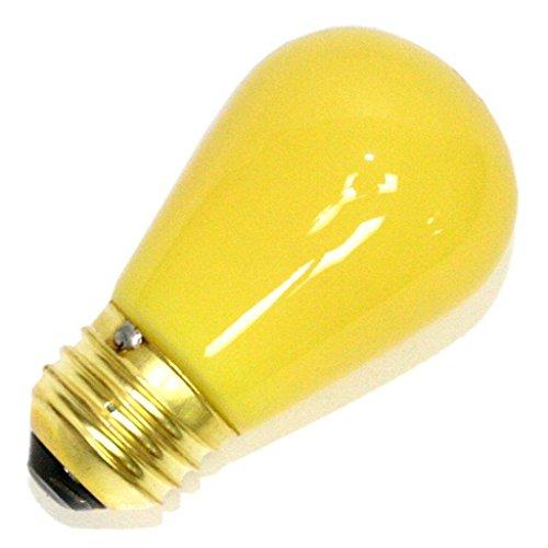Litetronics 26190 - L-101CY 11 S14 CY Standard Screw Base Colored Scoreboard Sign Light Bulb