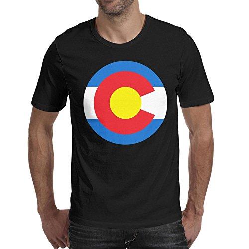 adasxv Colorado Flag Spare Mens Short Shirts New Casual Prin