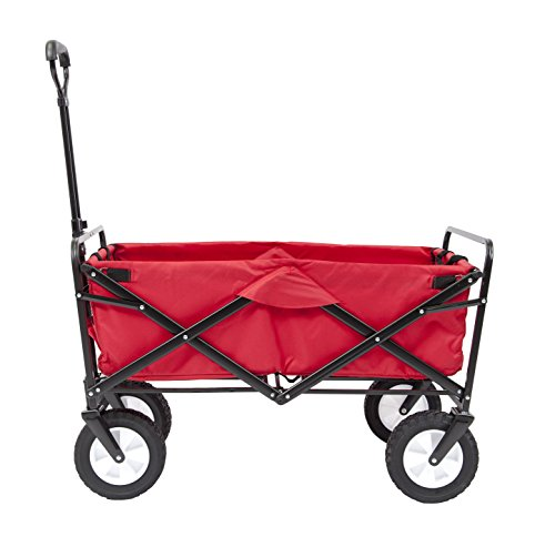 (Mac Sports Collapsible Folding Outdoor Utility Wagon, Red)