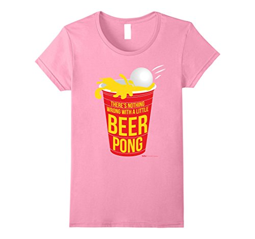 Womens There is Nothing wrong with a little Beer Pong Champ T Shirt Small (Beer Pong Womens Pink T-shirt)