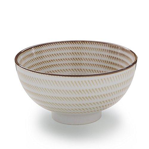 Style Appetizer (Japanese Porcelain Dinnerware Bowls Japanese Zen Style, for Appetizer, Dessert, Salad, Snack, Sushi, Fruit, Bread (Centripetal)