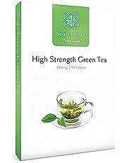 Healthspan Green Tea | High Strength | 90 Tablets | Chromium | Vitamin B2 | 323Mg Of Polyphenols | 155Mg Of Catechin Epigallocatechin Gallate (Egcg) | Vegan