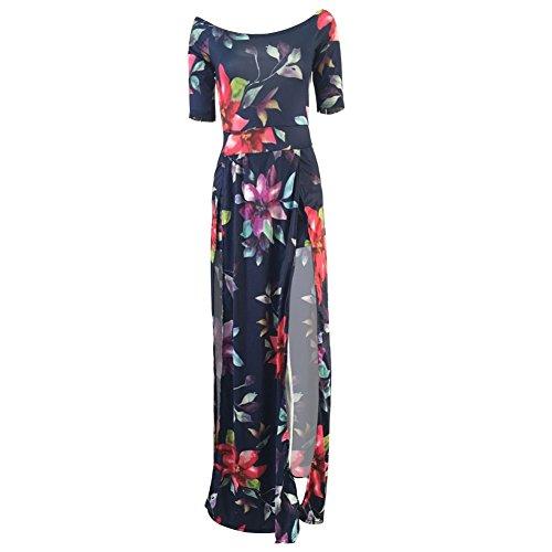 Les Femmes Daxin Au Large Robe Imprimé Floral De Mariage De Partie Robe Épaule Fendue Moulante Vestidos M-3xl