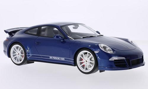 Porsche 911 (991) Carrera 4S, metallic-blue/white, RHD, Model Car, Ready-made, GT spirit 1:18 Porsche 911 Motor