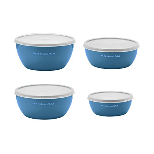 Kitchenaid Prep Bowls with Lids, Set of 4, Ocean Blue by KitchenAid (Image #2)
