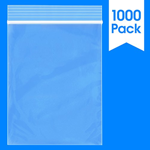 Plastic Coin Bag - 1000 Count - 3 X 4, 2 Mil Clear Plastic Reclosable Zip Poly Bags with Resealable Lock Seal Zipper by Spartan Industrial (More Sizes Available)