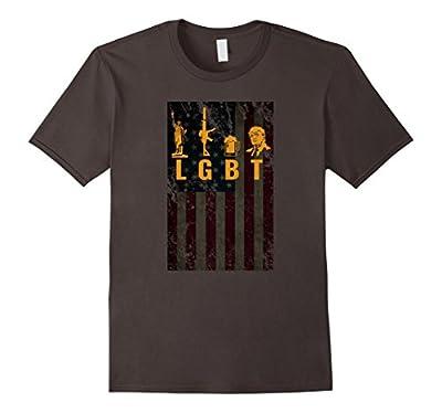 Funny LGBT Liberty Guns Beer Trump Support T-shirt