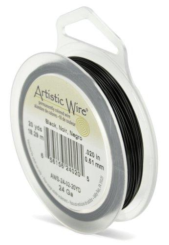 - Artistic Wire 24-Gauge Black Wire, 20-Yards