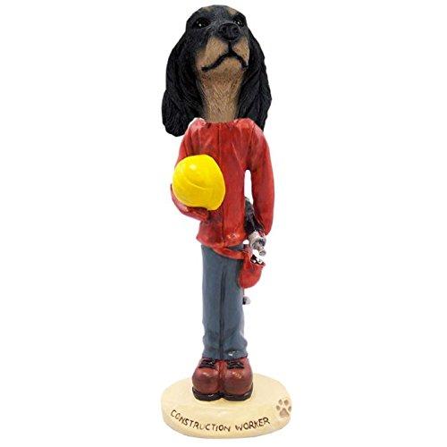Gordon Setter Figurine Hand Painted Statue