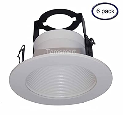 """6 Pack---4"""" Inch Open Baffle Trim with Bracket for Line Voltage Recessed Light/lighting-fit Halo/juno"""