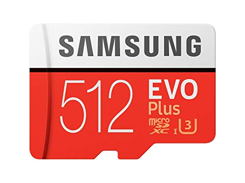 Samsung EVO Plus Class 10 Micro SDXC with Adapter, 512GB (MB-MC512GA) (Samsung 128gb Microsdxc Evo Memory Card With Adapter)